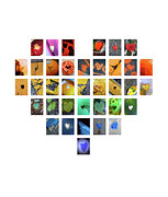 Boy Sees Hearts Digital Art - Rainbow Hearts by Boy Sees Hearts