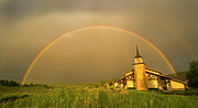 Field. Cloud Prints - Rainbow In Stormy Sky Print by Tom Kelly Photo