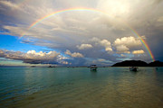 Featured Art - Rainbow in the Seychelles by Tim Holt and Photo Researchers