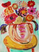 Jazzy Drawings - Rainbow in the Vase by Mary Carol Williams
