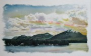 Cabins Pastels - Rainbow Inlet by Tess Lee miller