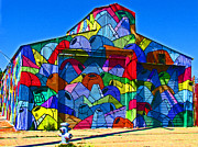Samuel Sheats Art - Rainbow Jug Building by Samuel Sheats