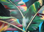 Colorfull Paintings - Rainbow Leaves by Nyiece Pregeant Owens