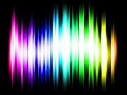 Sci-fi Digital Art Prints - Rainbow Light Rays Print by Michael Tompsett