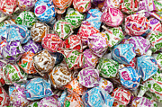 Lolly Pop Prints - Rainbow Lollipops Print by Andee Photography