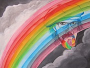 Aerosmith Paintings - Rainbow Man Mark Hudson by Jeepee Aero