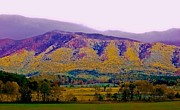 Smokey Mountains Photos - Rainbow Mountain by DigiArt Diaries by Vicky Browning