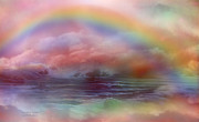 Mood Art Print Prints - Rainbow Ocean Print by Carol Cavalaris