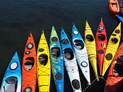 John Scates - Rainbow of kayaks