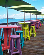 Key West Prints - Rainbow of Keys Print by Chris Andruskiewicz