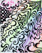 Swirls Drawings Posters - Rainbow of Love Poster by Mandy Shupp