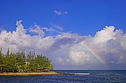 Rainbow Framed Prints Posters - Rainbow Off Pigeon Island-St Lucia  Poster by Chester Williams