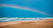 Overcast Day Prints - Rainbow on Karatas Beach Print by Gabriela Insuratelu