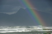South African Photo Prints - Rainbow on Ocean Print by Sami Sarkis