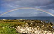 Beach Scenes Photos - Rainbow On The Island Of Arran, Scotland by John Short