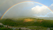 Rainbow River Photos - Rainbow over Boquete by Heiko Koehrer-Wagner