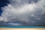 Beach Scenery Photos - Rainbow Over Emerald Bay by Dennis Hedberg