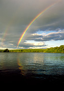 Allegheny Photos - Rainbow Over Lake Wallenpaupack by Michael P Godomski and Photo Researchers