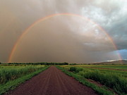 Road Travel Photo Prints - Rainbow Print by Pat Gaines