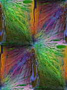 Rain Digital Art - Rainbow Raindrops by Tim Allen