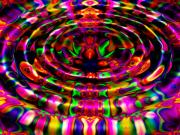 Puddle Digital Art Prints - Rainbow River Print by Robert Orinski