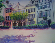 Charleston Houses Paintings - Rainbow Road by Julie Morrison