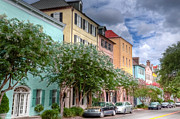 Charleston Houses Art - Rainbow Row III by Drew Castelhano