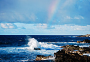 Rocky Beach Prints - Rainbow Snippet Print by Christi Kraft