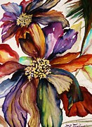 Perennials Painting Posters - Rainbow Spring Poster by Lil Taylor