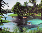 Dunnellon Prints - Rainbow Springs In Florida Print by Luis F Rodriguez
