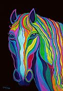 Mares Prints - Rainbow Stallion Print by Nick Gustafson