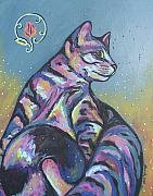 Feline Paintings - Rainbow Tabby by Sarah Crumpler