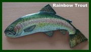 Puerto Rico Sculptures - Rainbow Trout by Dos Artesanos