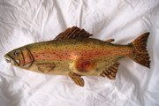 Aquatic Life Reliefs - Rainbow Trout Number Nine by Lisa Ruggiero