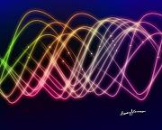 Sine Prints - Rainbow Waves Print by Anthony Caruso
