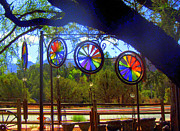 Wind Chimes Posters - Rainbow Wind Chimes Poster by Donna Spadola