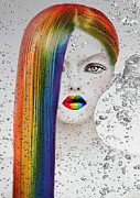 Colorful Eye Shadow Prints - Rainbow  Print by Yosi Cupano