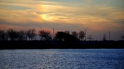 Willow Lake Photo Posters - Rainbowic Sunset Poster by Robert Harmon