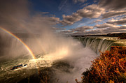 "\""niagra Falls\\\"" Framed Prints - Rainbows over Niagara Falls  Framed Print by Rob Hawkins"