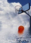 Basketball Art - Rained Out Game by Gravityx Designs