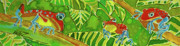 Reptiles Tapestries - Textiles Posters - Rainforest Buds Poster by Kelly     ZumBerge