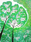 Rain Drawings - Rainforest by Fariz Kovalchuk