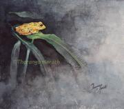 Sri Lankan Artist Paintings - Rainforest Jewel by Tharanga Herath