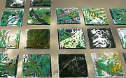 Fused Glass Mixed Media - Rainforest Tile Prints by Sarah King