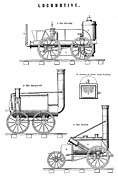 Trial Prints - Rainhill Trials Steam Trains, 1829 Print by Sheila Terry