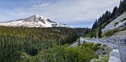 Mountain Road Metal Prints - Rainier Journey Metal Print by Mike Reid