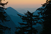 Rainier Twilight Print by Roger Reeves  and Terrie Heslop