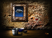 Frame House Digital Art Prints - Raining in my heart Print by Alessandro Della Pietra