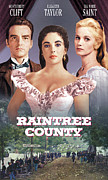 1950s Poster Art Photo Framed Prints - Raintree County, Montgomery Clift Framed Print by Everett