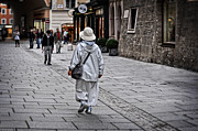 Old Street Digital Art - Rainwear in Salzburg by Mary Machare